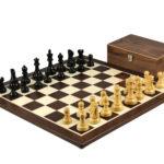 Master Range Wooden Chess Set Wenge Board 21″ Weighted Ebonised Reykjavik Staunton Pieces 3.75″