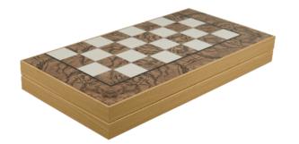 "Classic Range Backgammon Set ""Burl Walnut""- 19″"