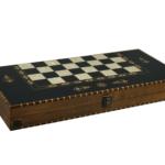 """Luxury Range Helena Backgammon Set """"Rural Ebonywood"""" – 20″  2150"""