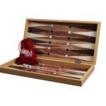 "Classic Range Chess & Backgammon Set ""American Walnut""- 19″"