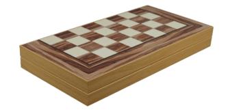 "Classic Range Backgammon Set ""American Walnut""- 19″"