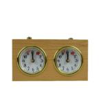 Turnier Chess Clock Analog Charcoal Natural Wood