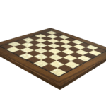 "Premium Range Helena Flat Mother of Pearl Chess Board ""Walnut Wood"" – 20″"