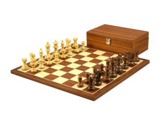 Economy Range Wooden Chess Set Mahogany Board 16″ Weighted Sheesham Classic Staunton Pieces 3″