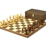 Economy Range Wooden Chess Set Walnut Board 16″ Weighted Sheesham Classic Staunton Pieces 3″