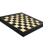 """Premium Range Helena Flat Chess Board """"Charcoal Black""""- 20″"""