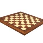 "Premium Range Helena Flat Chess Board ""Rosewood""- 20″"