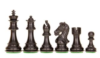 King Bridal Staunton Chess Pieces Series Ebonised Boxwood 3.75″